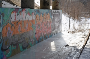 Graffiti and ice