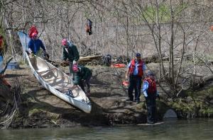 Loading canoes